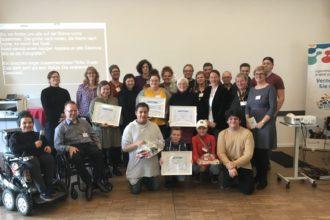 Preisverleihung auf der Veranstaltung 10 Jahre Inklusive Medienarbeit NRW! am 9. 11. 2019 in Düsseldorf.