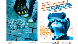"""Projektplakate: """"Lebenswelten treffen sich"""" und """"Meine Medienkampagne"""""""